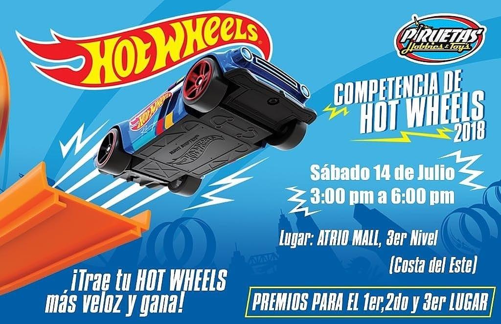 Competencia de Hot Wheels en Piruetas Hobbies & Toy's