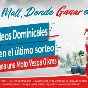 Rifa Navideña «Atrio Mall, Donde Ganar es un Paseo»